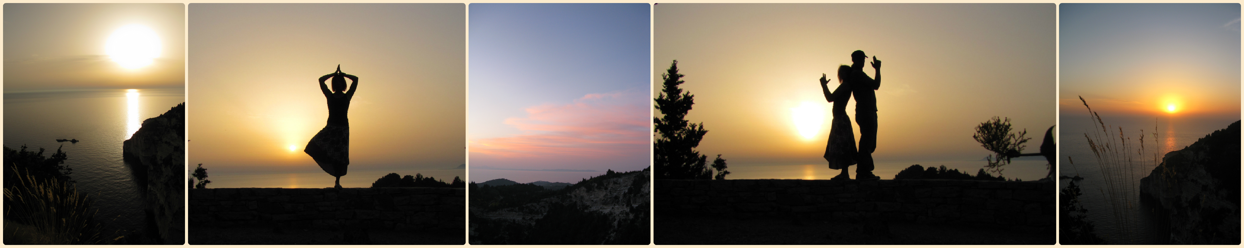 Beautiful sunsets at Kastenida cliffs