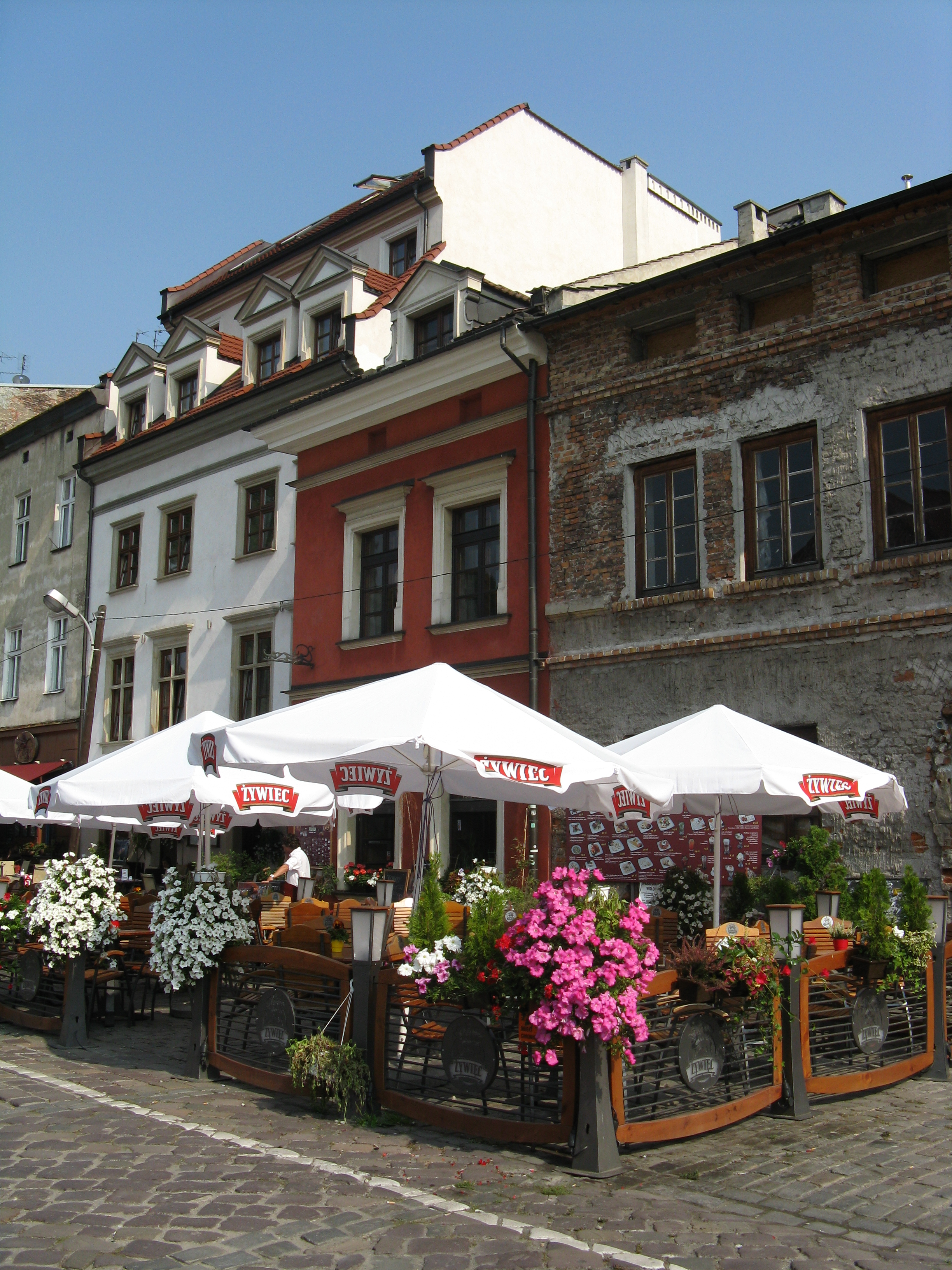 One of the cafes at the pretty square along Szeroka