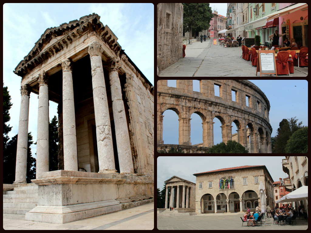 Pula's Roman Forum, amphitheatre and old town streets