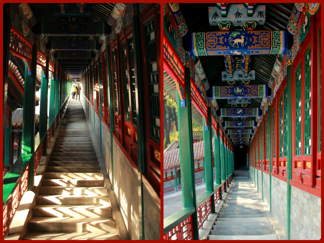 Attractive, intricately decorated corridors
