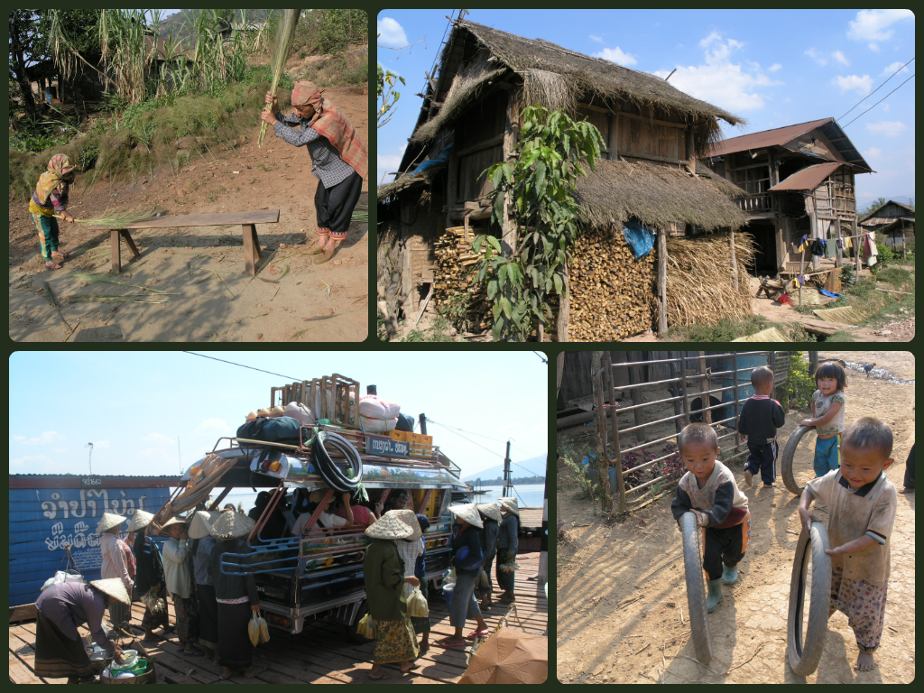 The way many people in Laos still live.