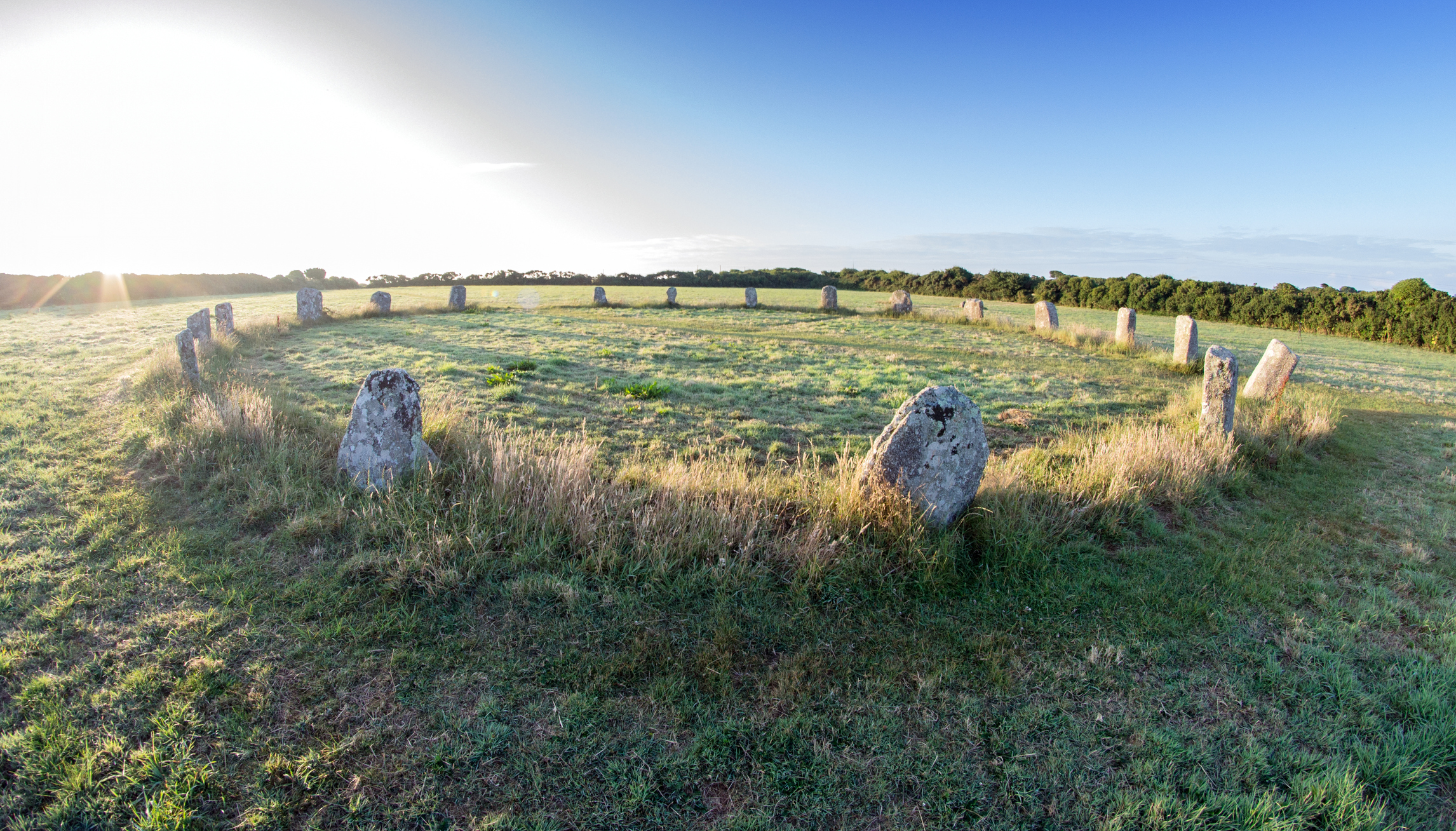 Ancient stone circle in Cornwall